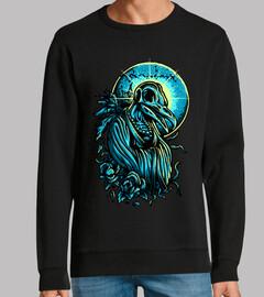 Diseño Terror Arte Colorido Dibujo Azul