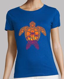 diseño tropical de tortuga marina al at