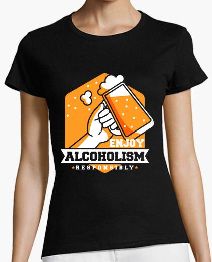 Camiseta disfruta del alcoholismo responsablemente