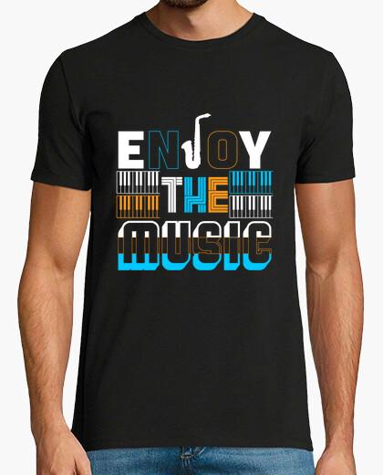 Camiseta disfruta la música
