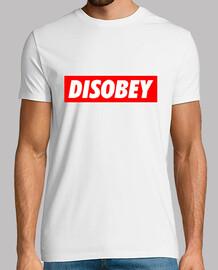 Disobey Basic Camiseta Hombre Men
