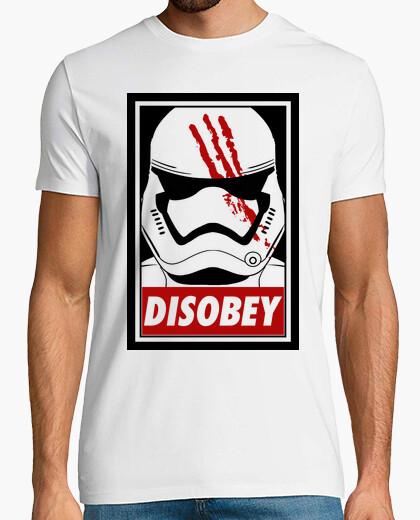 T-shirt disobey (bianco)