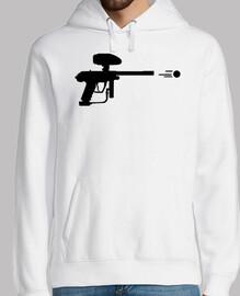 disparar arma de paintball