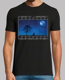 Dispositiva fotograma lobo y luna