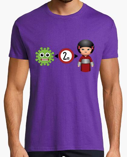 Camiseta distancia social 2 metros niña...