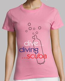 dive diving scuba woman