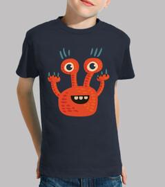 divertente personaggio dei cartoni animati arancione