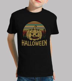 Divertida Camiseta de Halloween con Calabaza Vintage, regalo perfecto
