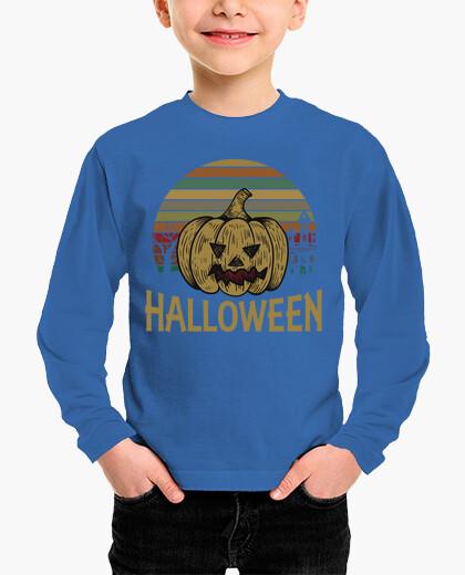 Ropa infantil Divertida Camiseta de Halloween con Calabaza Vintage, regalo perfecto