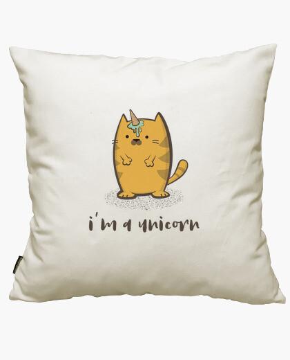 Funda cojín divertido gato unicornio con...