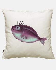 Divertido pez con pestañas elegantes