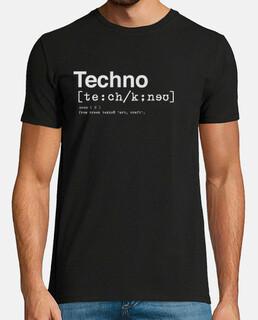 dizionario techno uomo, manica corta, nero, qualità extra