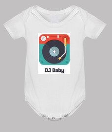 dj baby Body bebé, blanco