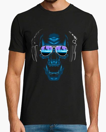 T-shirt dj teschio