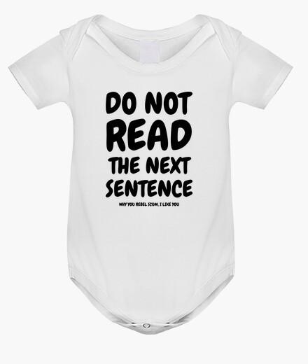 Vêtements enfant Do not read the next sentence...