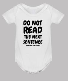Do not read the next sentence...