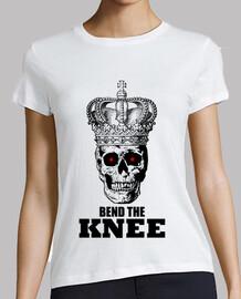 doblar el cráneo de la corona de la rodilla