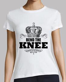 doble la corona del rey de la rodilla