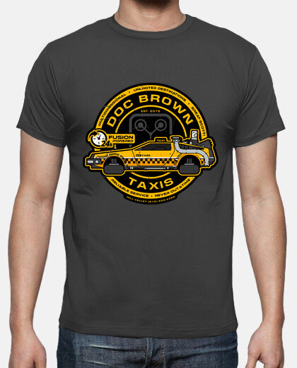 doc brown taxis / back to the future / mens