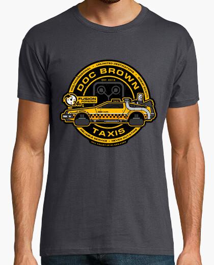 Camiseta doc brown taxis / volver al futuro / mens