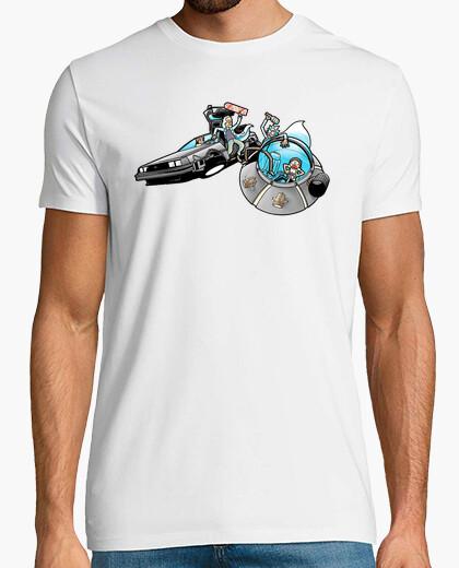 Camiseta Doc y Marty  Vs Rick y Morty