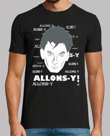 Doctor Who Allons-Y versión vieja (camisetas chico y chica)