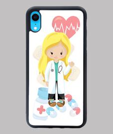 Doctora, médica, médico Funda iPhone XR