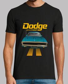 Dodge Charger 70 - line (blue) (HTS)
