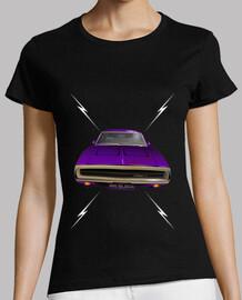 dodge charger 70 lightning - violeta - pies