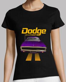 dodge charger 70 line - violeta - pies