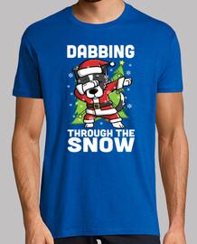 dog border collie dab christmas