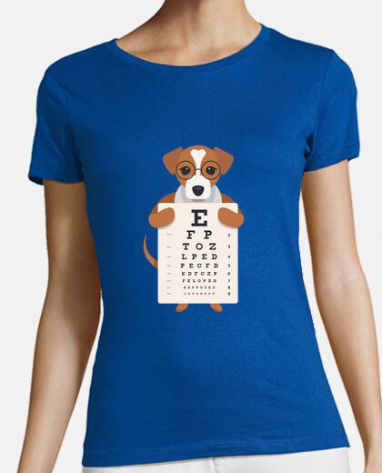 dog eye letter t-shirt
