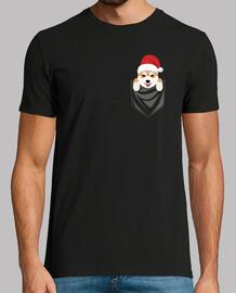 dog shiba inu pocket graphic christmas