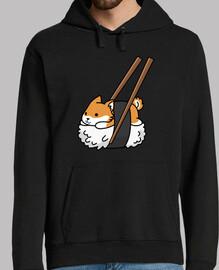 dog shiba inu sushi