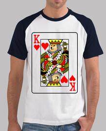 doge king of hearts, t-shirt style baseball