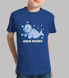 doggo acuático - sello divertido - camisa de niños