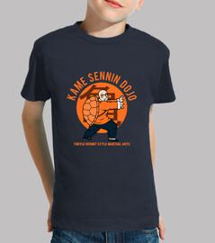 dojo kame t-shirt - kids navy blu