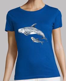 dolphin of risso calderón gris t-shirt
