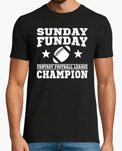 Camiseta domingo, funday, fantasía,...