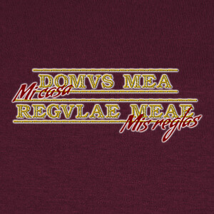 Domus mea regulae meae T-shirts