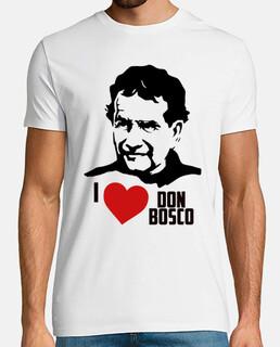 Don Bosco - Hombre, manga corta, blanco, calidad extra