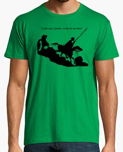 Tee-shirt don quichotte dans la choline (noir)