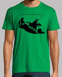 Don Quijote en colina (negro)