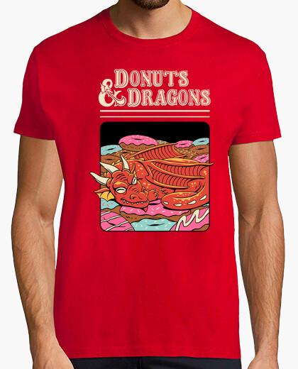 Camiseta donas y dragones camisa para hombre.