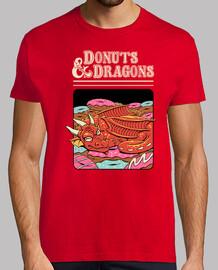 donas y dragones camisa para hombre.