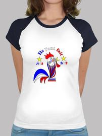 donna della maglietta del mondo della francia di calcio della francia 2018