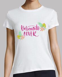 donna lover veranito, manica corta, bianca, qualità premium