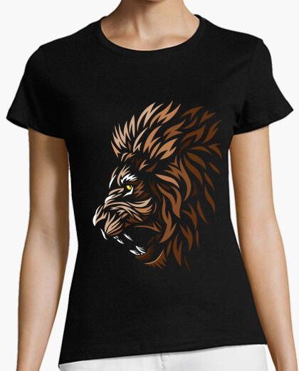 T-shirt Donna, manica corta, nera, qualità premium