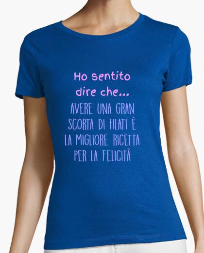 T-shirt Donna, manica corta, qualità premium, colori assortiti
