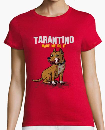 T-shirt Donna, manica corta, rossa, qualità premium